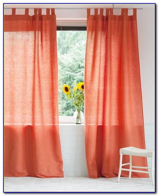 Vorhang Baumwolle Orange