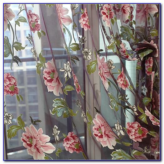 Vorhang Blumen Bunt