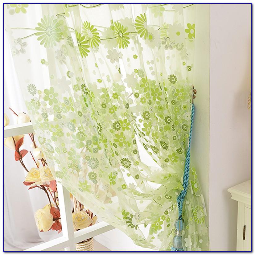 Vorhang Blumenfenster