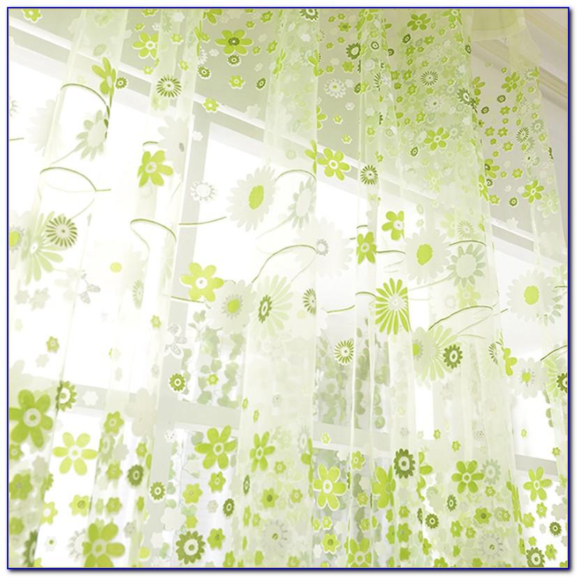 Vorhang Blumenmuster