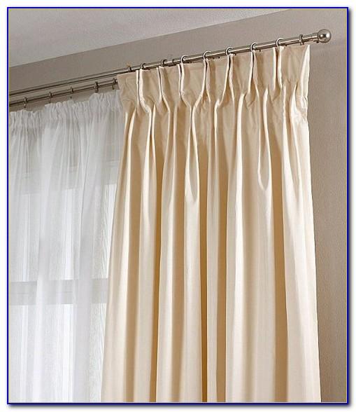 Vorhang Creme Braun