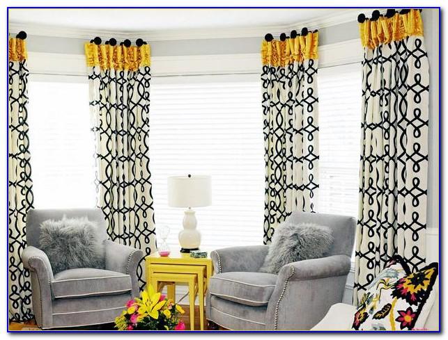 Vorhang Gelb Orange