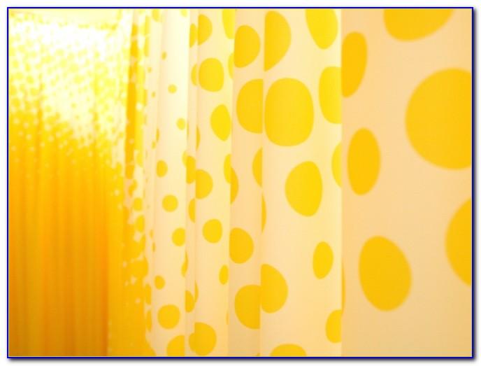 Vorhang Gelb Weiß Gestreift