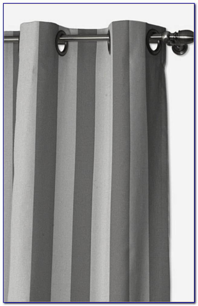 Vorhang Gestreift Schwarz Weiß