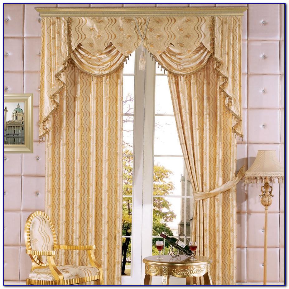 Vorhang Gold Weiß
