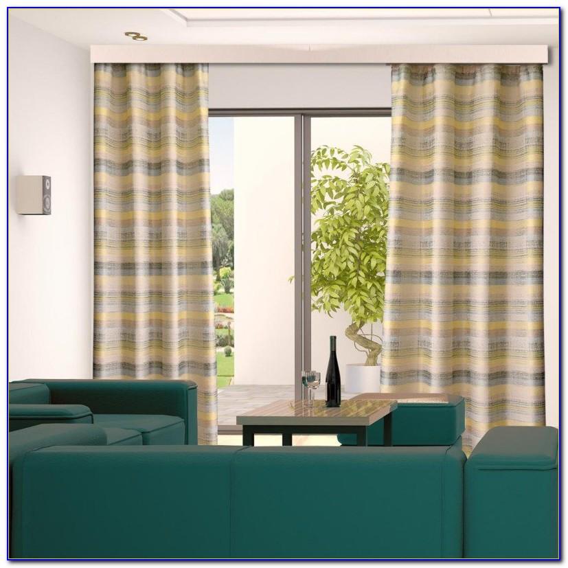 Vorhang Grün Kräuselband