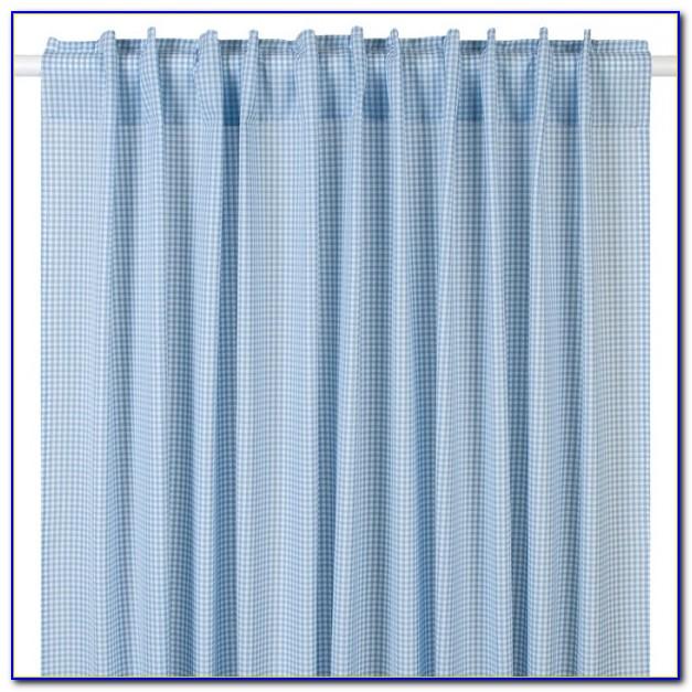 Vorhang Hellblau Gestreift