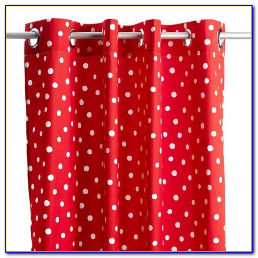 Vorhang Rot Grau