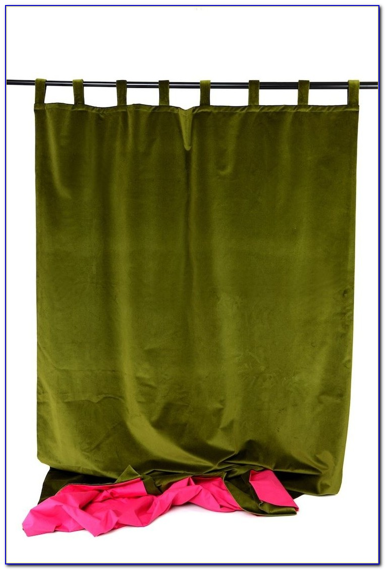 Vorhang Samt Grün