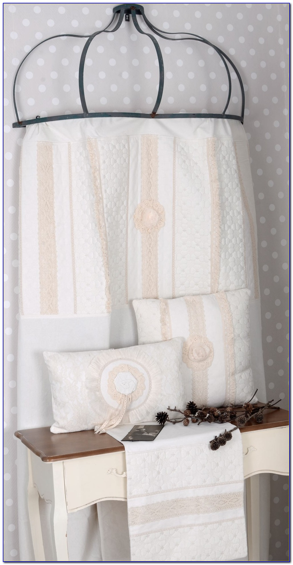Vorhang Shabby Grau