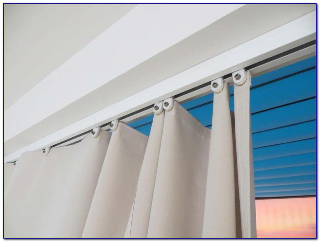 Vorhang Sonnenschutz Außen