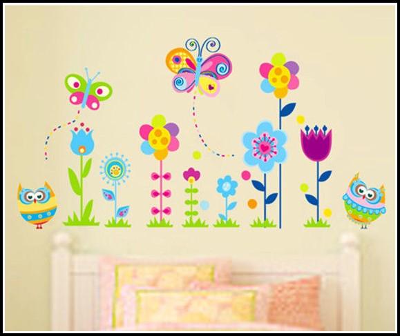 Wandsticker Blumen Kinderzimmer