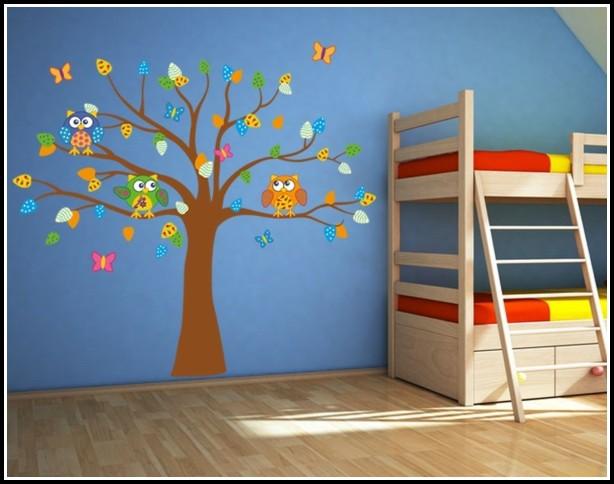 Wandtattoo Baum Eule Kinderzimmer