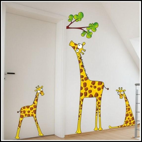 Wandtattoo Giraffe Kinderzimmer