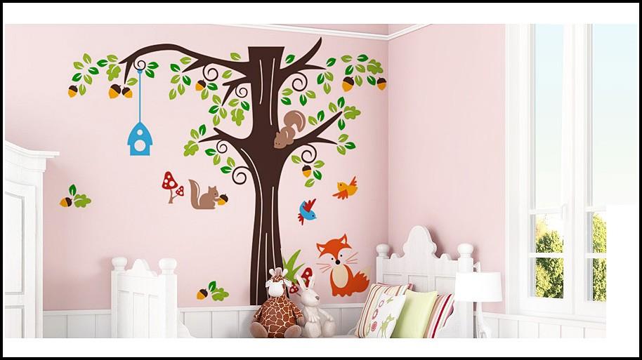Wandtattoo Kinderzimmer Baum Eule