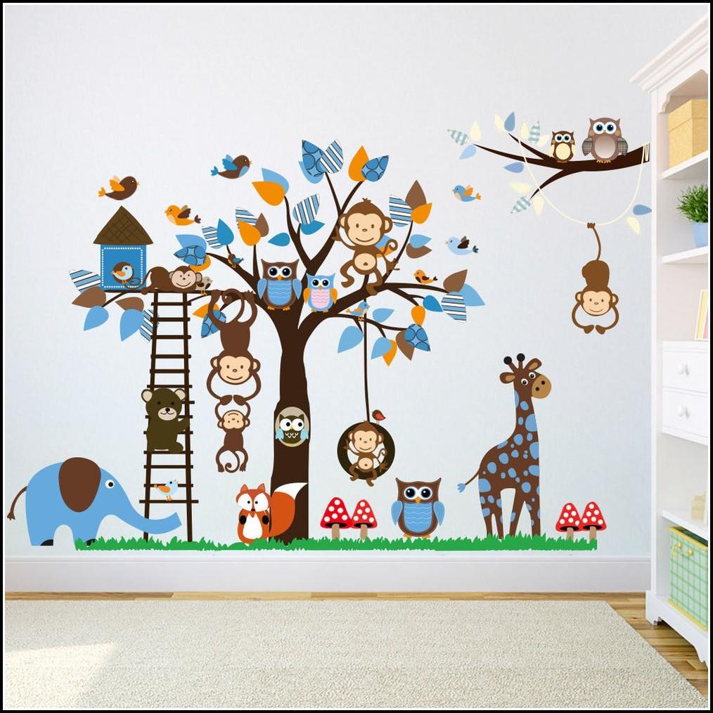 Wandtattoo Kinderzimmer Tiere Set
