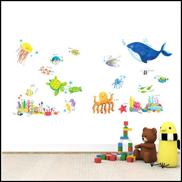 Wandtattoo Unterwasserwelt Kinderzimmer