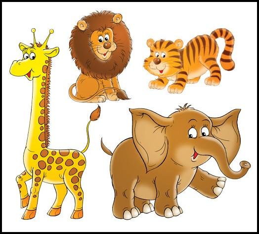 Wandtattoo Wilde Tiere Kinderzimmer