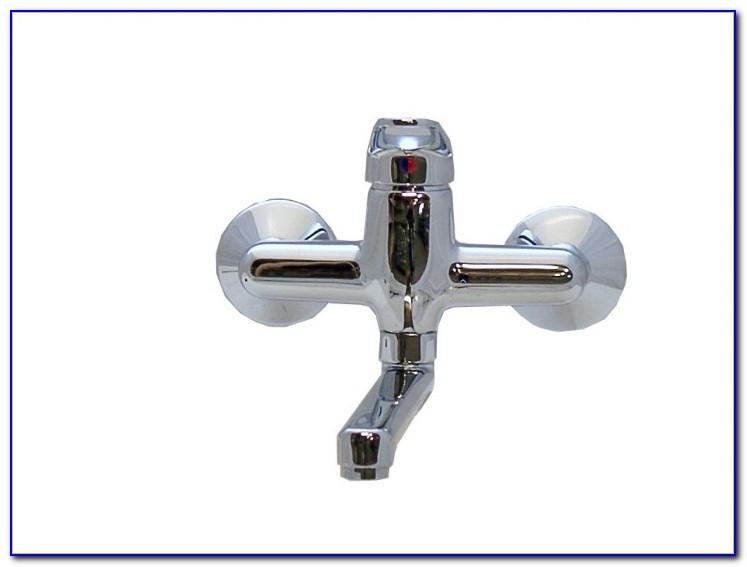Wasserhahn Wandanschluss Bad