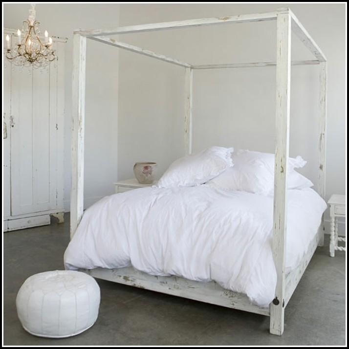 Weiße Betten Holz