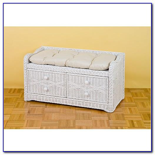 Wicker Patio Bench With Storage