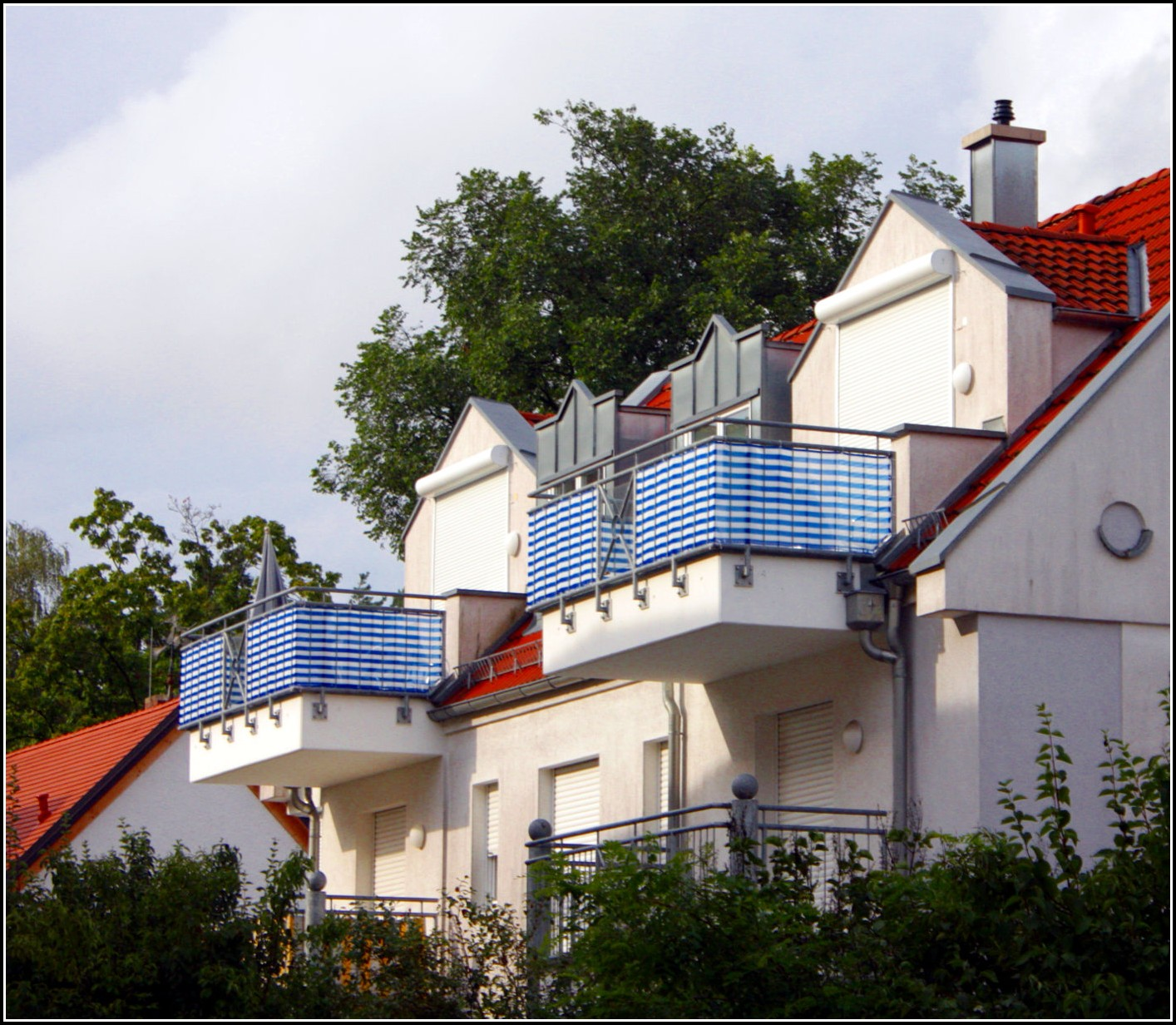 Wind Sichtschutz Balkon Meterware Dolce Vizio Tiramisu