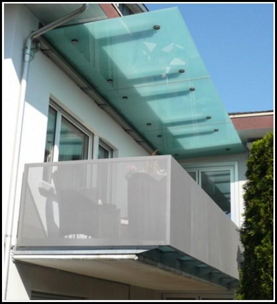 Windschutz Balkon Plexiglas