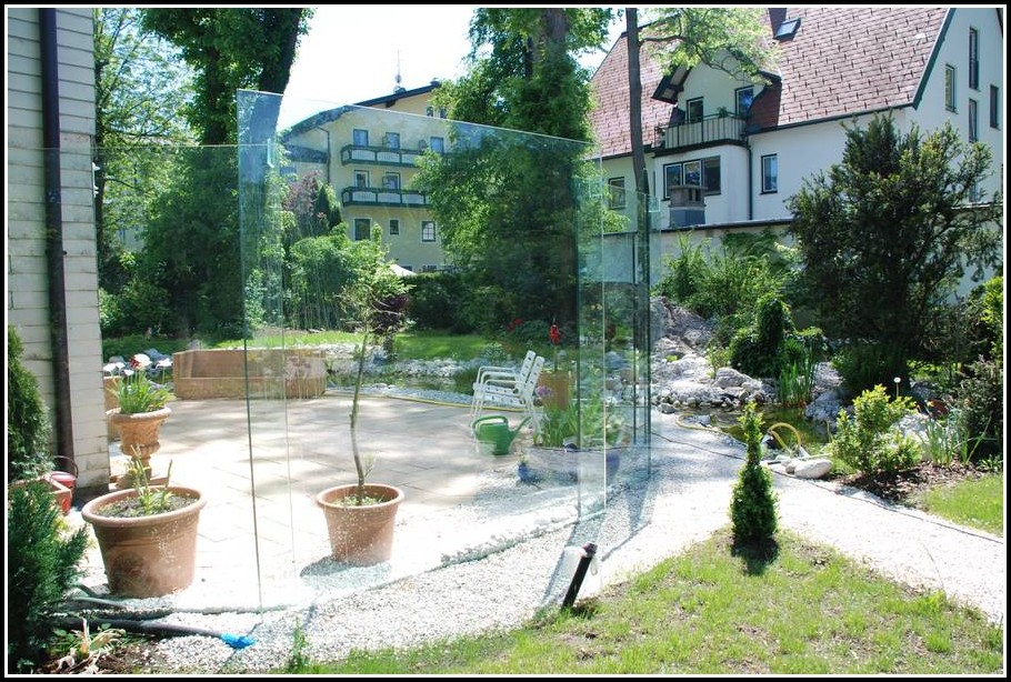Windschutz Glas Terrasse Mobil