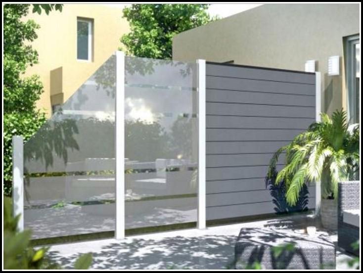 Windschutz Terrasse Glas Beweglich