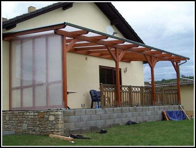 Windschutz Terrasse Plexiglas