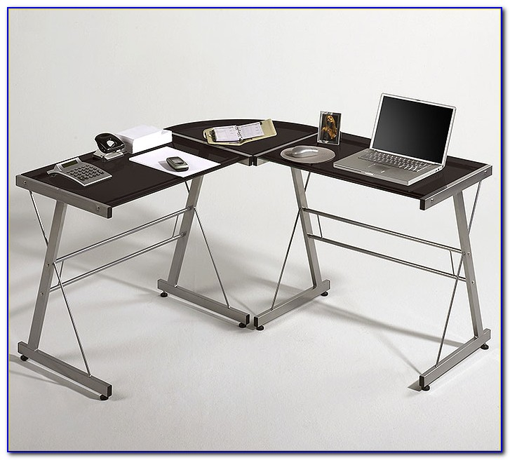 Winkel Schreibtisch Schwarz