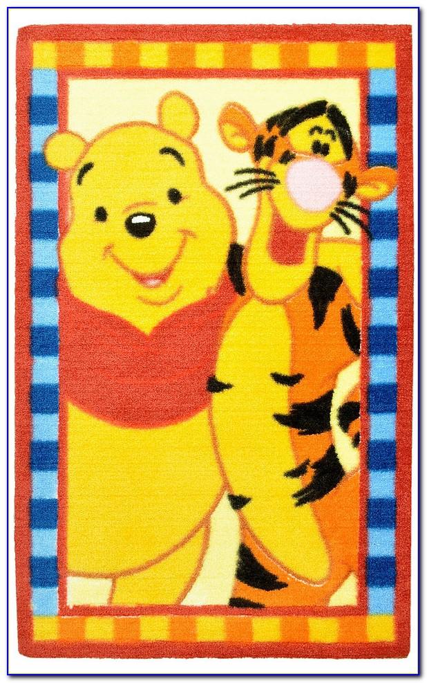 Winnie Pooh Teppich Rosa