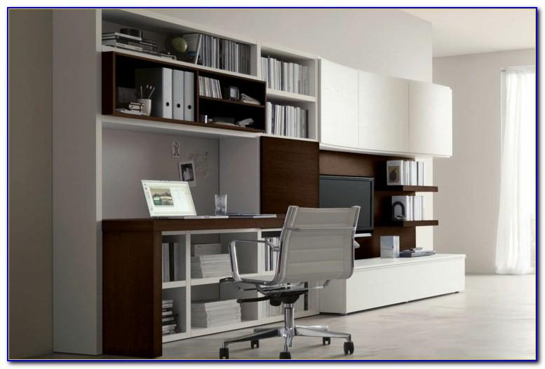 Wohnwände Mit Schreibtisch