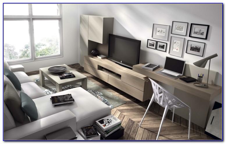 Wohnzimmer Mit Schreibtisch Ecke