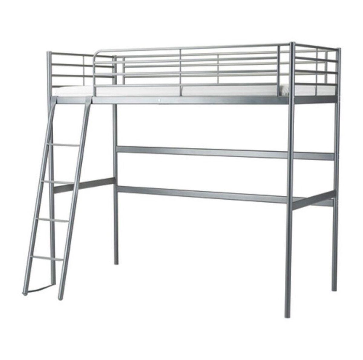 Ikea Hochbett Mit Schreibtisch Metall