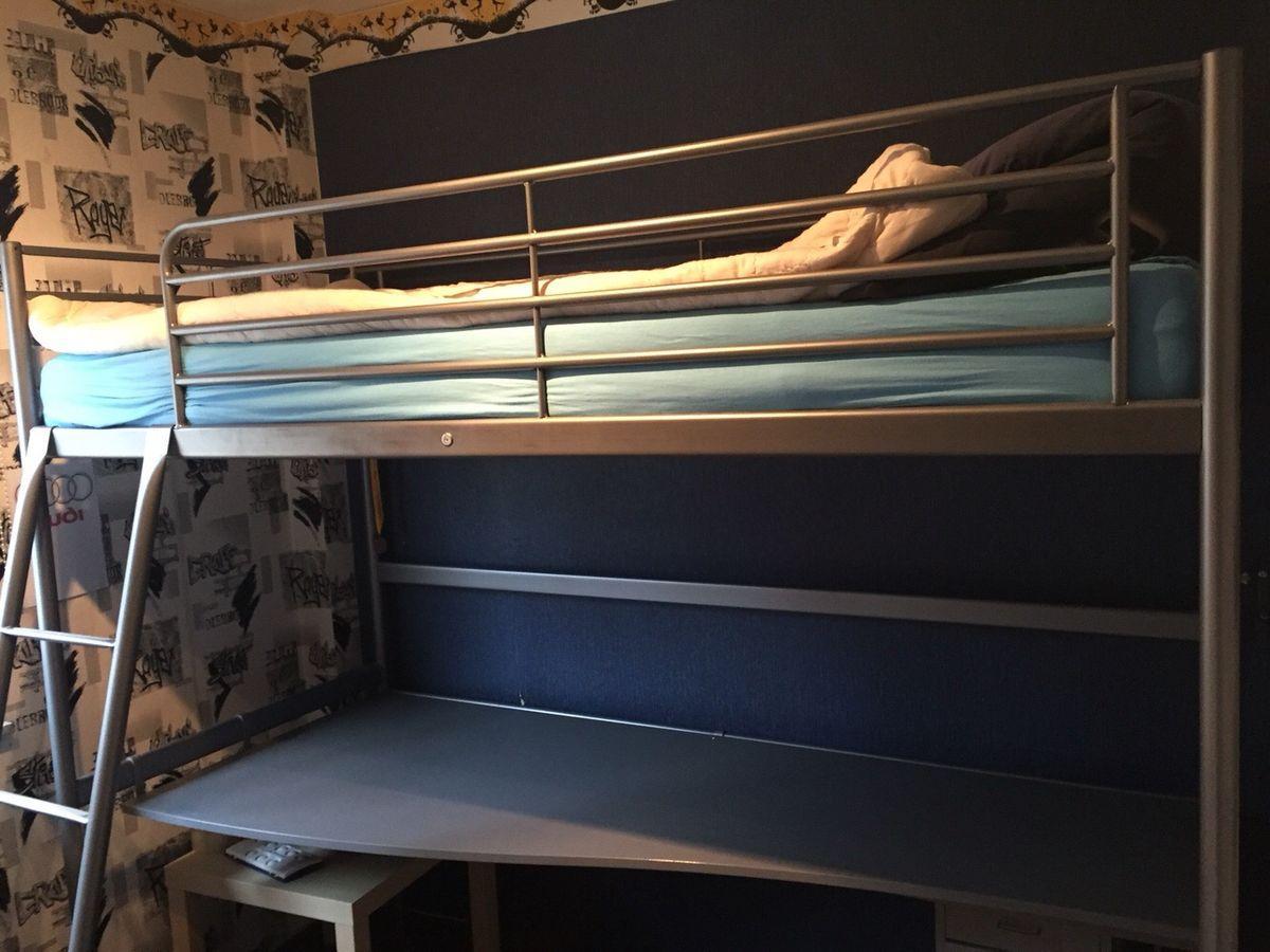 Ikea Hochbett Svärta Mit Schreibtisch