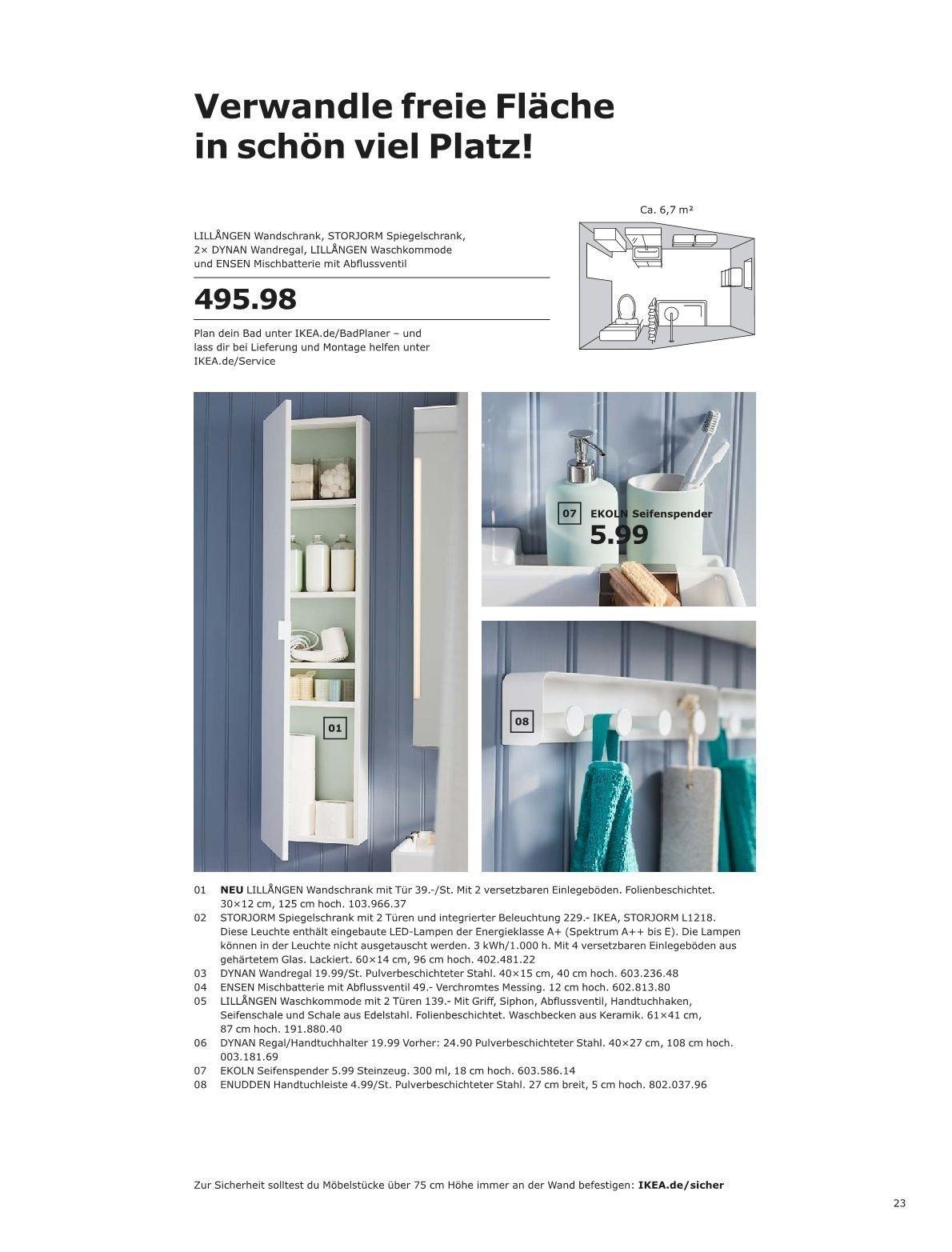 Ikea Lillangen Waschkommode