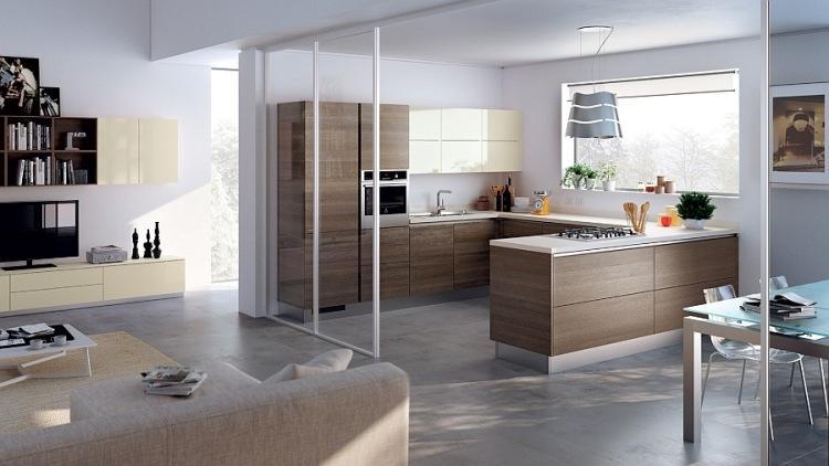 Küche Mit Wohnzimmer Modern