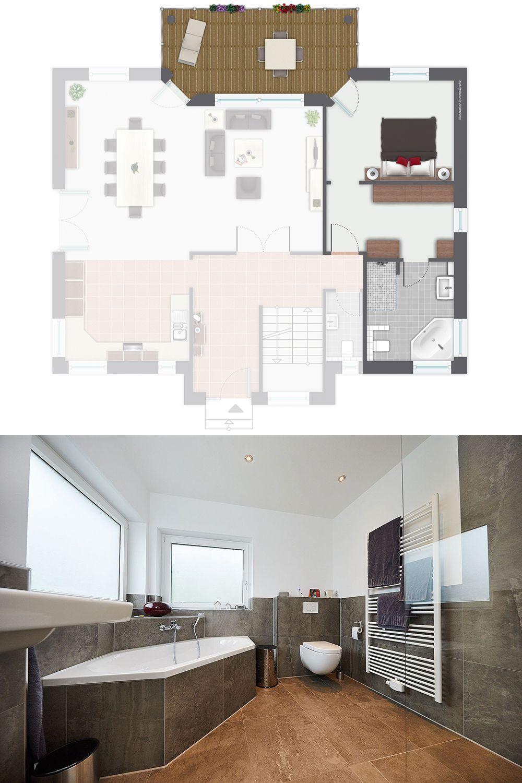 Schlafzimmer Mit Ankleidezimmer Und Bad