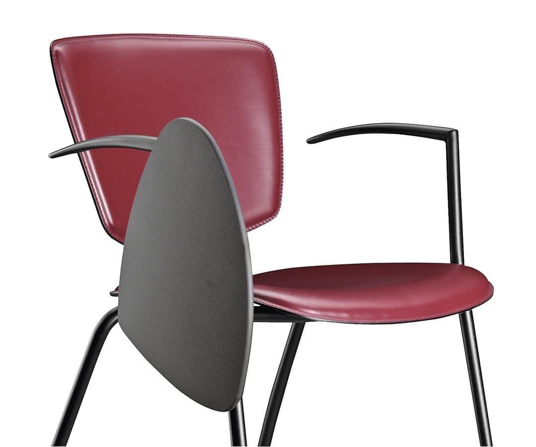 Seminarstühle Mit Schreibplatte Stapelbar