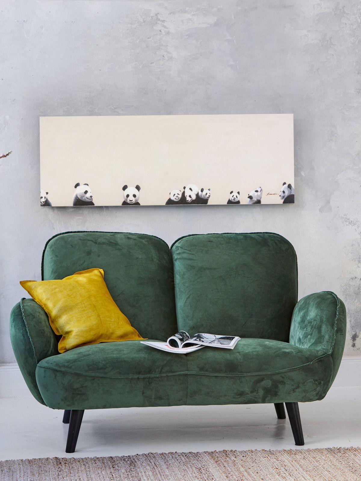 2 Sitzer Sofa Grün