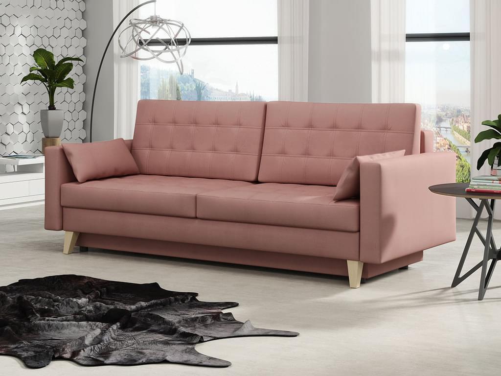3 Sitzer Sofa Mit Schlaffunktion Und Bettkasten