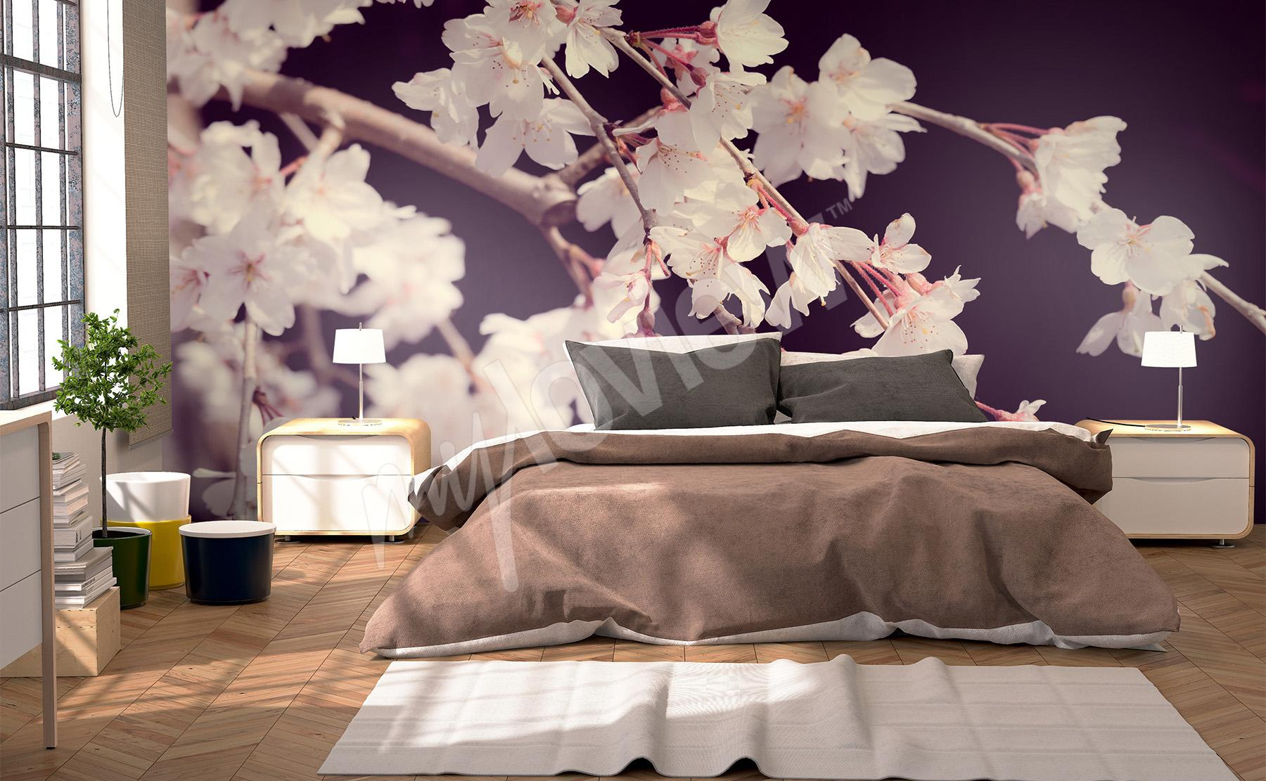 3d Effekt Fototapete Schlafzimmer 3d Blumen