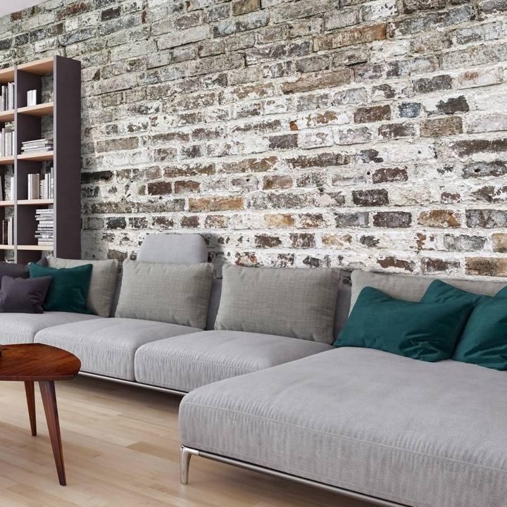 3d Tapeten Wohnzimmer Steinoptik