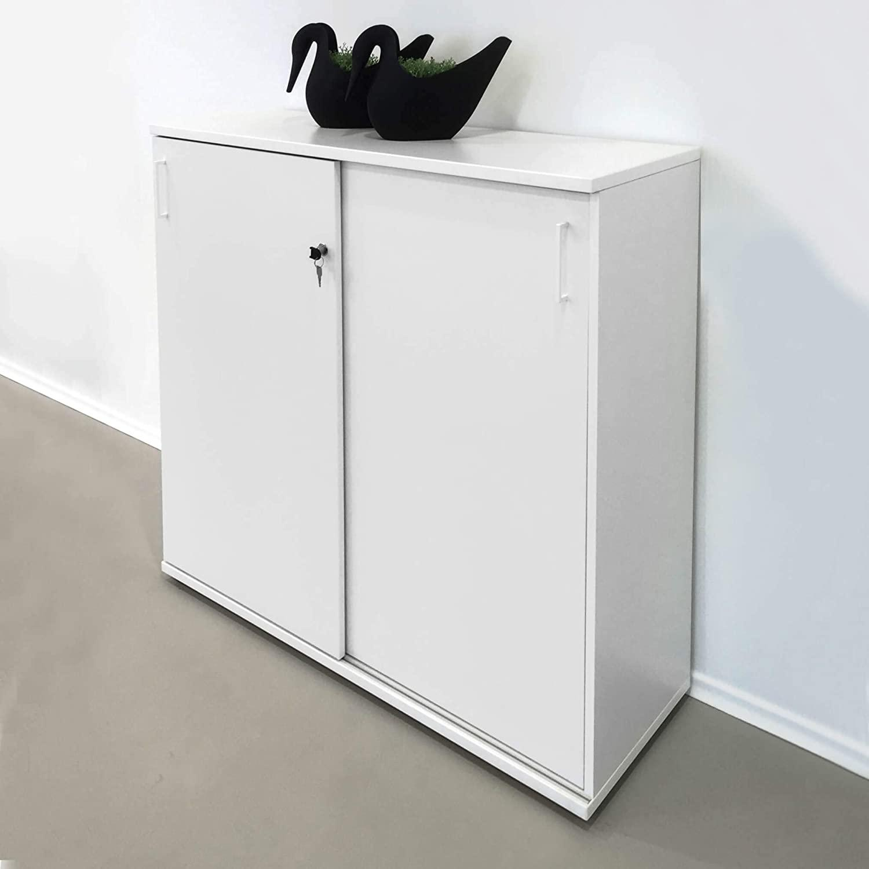 Abschließbarer Schrank Weiß
