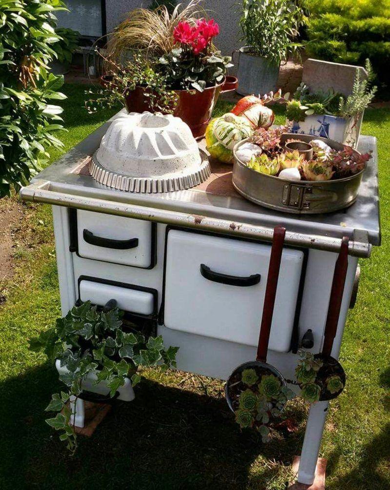 Alte Gartendeko Vintage