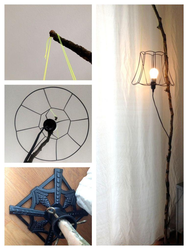 Alte Stehlampe Upcycling
