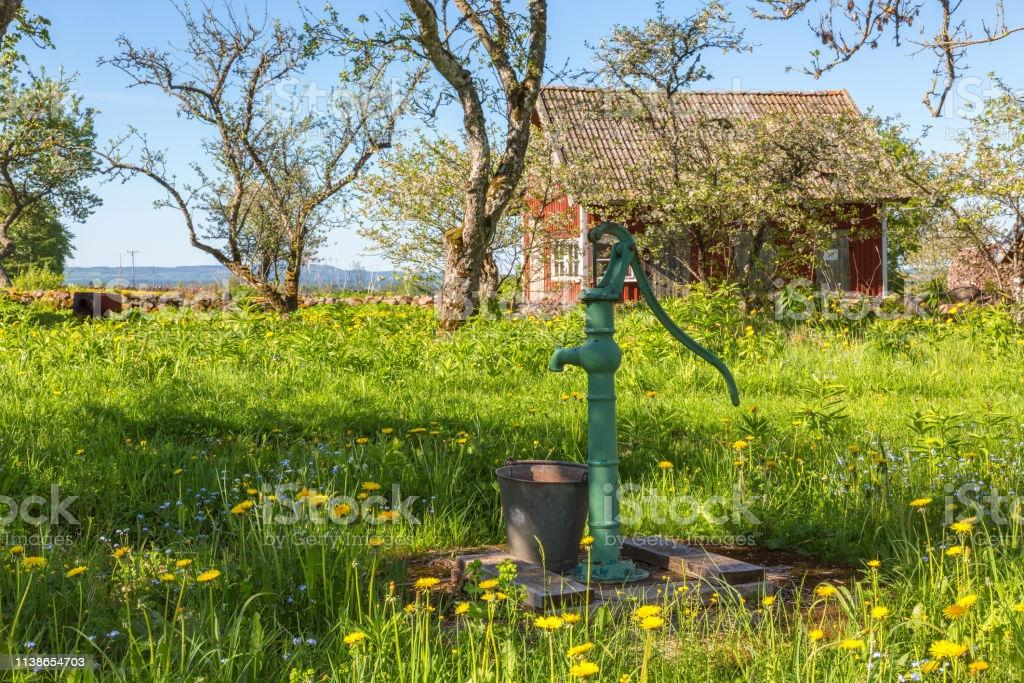 Alte Wasserpumpe Garten