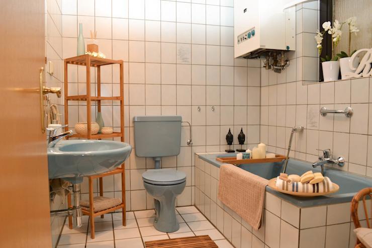 Altes Blaues Badezimmer