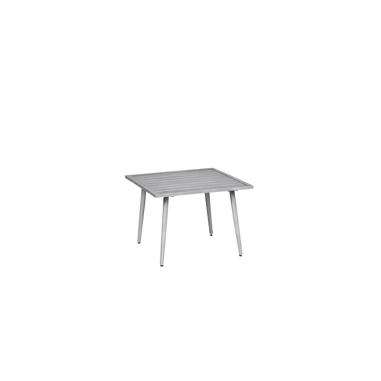 Aluminium Gartentisch 70×70